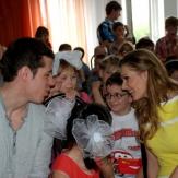 Кожевникова и Малкин с детьми