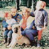 Владимир Путинс женой и детьми