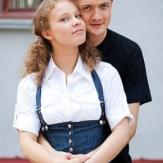 Константин Стрельников с женой Полиной Сыркиной