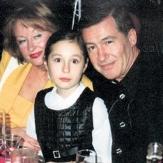 Лариса Удовиченко, ее муж Геннадий Болгарин и их дочь фото
