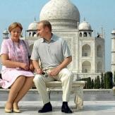 Владимир Путин со своей женой Людмилой в Индии фото