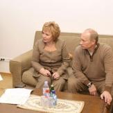 Жена Путина Людмила со своим мужем