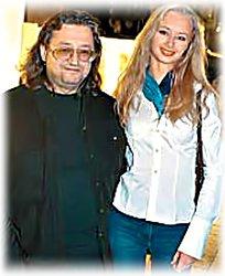 Александр Градский и его жена