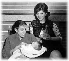 Адриано Челентано с женой в молодости
