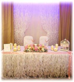 украшения свадебного зала цветами