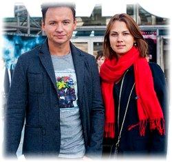 Александр Олешко и его жена