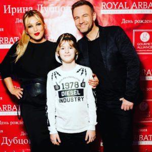 Ирина Дубцова с первым мужем и сыном